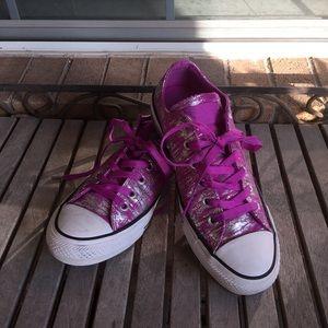 Converse Chuck Taylors All Stars Purple & Silver